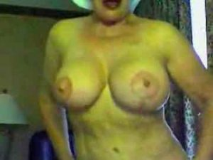 Euro GILF Flaunts Her Big Boobs