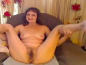 Beautiful Granny With Hairy Pussy