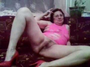 Seductive Grandma Teasing With Her Goodies