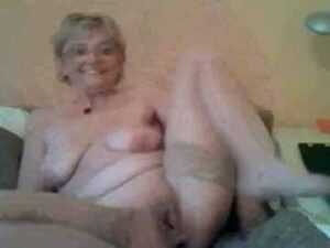 Lovely Granny Strips Naked On Cam